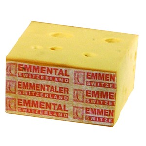 Fromage factice Emmental Suisse bloc 2,5kg Fromage à pate semi dure fromage factice 21-60-12